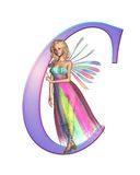 Fairy Alphabet - letter C Stock Photos