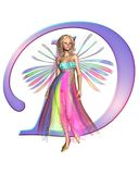 Fairy Alphabet - letter D Stock Photos