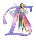 Fairy Alphabet - letter E Royalty Free Stock Photos