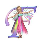 Fairy Alphabet - letter F Royalty Free Stock Photo