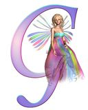 Fairy Alphabet - letter G Stock Photo