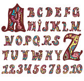Fairy alphabet and numbers Royalty Free Stock Photos