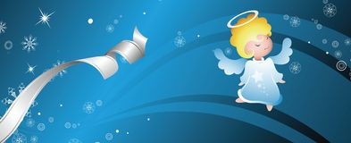 Fairy angel banner Royalty Free Stock Photo