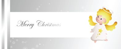 Fairy angel banner Royalty Free Stock Image