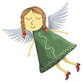 Fairy angel isolated on white background.  Stock Images