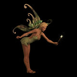 Fairy Anouk on Black Royalty Free Stock Images