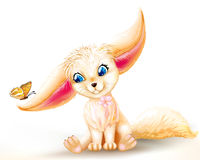 Fairy baby fox Royalty Free Stock Images