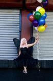 Fairy with balloons Stock Photography