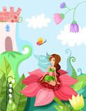Fairy. Vector Beautiful colorful illustration of a magic fairy Royalty Free Stock Photos
