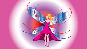 Fairy beautiful girl fairy with a magic wand. Royalty Free Stock Photos