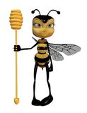 Fairy bee 1. 3D render of a cute fairy bee Royalty Free Stock Photos