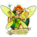 Fairy with beer mug Stock Images