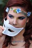 Fairy behind the mask Stock Images