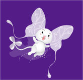 Fairy being. Night fairy being. Cute cartoon flying monster vector illustration