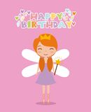 Fairy birthday card Royalty Free Stock Photo