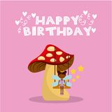 Fairy birthday card Royalty Free Stock Photography