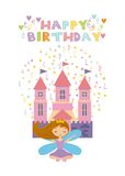 Fairy birthday card Stock Photo