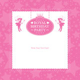 Fairy birthday card invitation Stock Photography