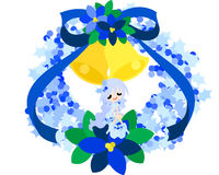 A fairy of the blue Christmas wreath Royalty Free Stock Photo