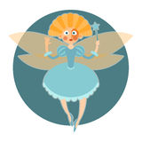 Fairy in blue dress Royalty Free Stock Photography