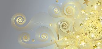 Fairy blue and gold banner. Full vector Stock Photo