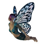 Fairy with blue wings Stock Photo