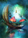 Fairy boat Stock Image