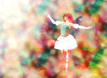 Fairy on Bokeh background Stock Image