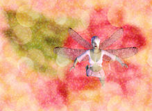 Fairy on Bokeh background Stock Photography