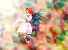 Fairy on Bokeh background Royalty Free Stock Photography