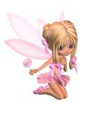 Fairy bonito da bailarina de Toon na cor-de-rosa - ajoelhando-se ilustração stock