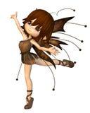 Fairy bonito do outono de Toon ilustração stock