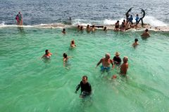 Fairy Bower Rock Pool, Manly, Sydney, Australia Stock Photos