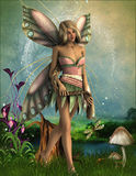 Fairy with braid Royalty Free Stock Image