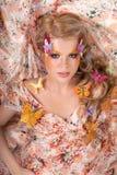 Fairy of butterflies stock photo