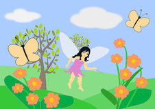 Fairy and Butterflies Royalty Free Stock Photo