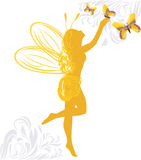 Fairy and butterflies Royalty Free Stock Photography