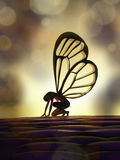 Fairy butterfly Stock Photo