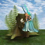 Fairy and Butterfly Stock Photography