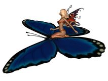 Fairy Butterfly Rider Stock Photography