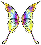Fairy or butterfly wings isolated Royalty Free Stock Photography