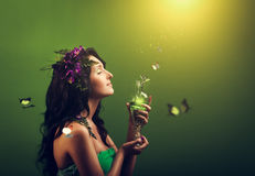 Fairy with butterflys Royalty Free Stock Photos