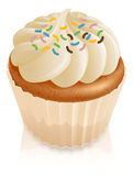 Fairy cake cupcake with sprinkles Royalty Free Stock Photos