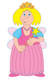 Fairy cartoon illustration Stock Image