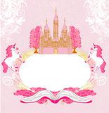 Fairy castle appearing from the book Royalty Free Stock Images