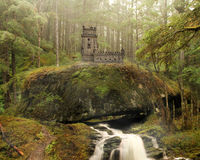 Fairy Castle Background Stock Images