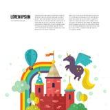 Fairy Castle Illustration Royalty Free Stock Photos