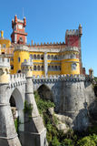 Fairy castle of  Palacio da Pena in Sintra Royalty Free Stock Photo