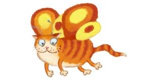 Fairy Cat Flight Animation stock video