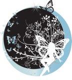 Fairy che si siede sulla mezzaluna Immagine Stock